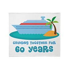 60th Anniversary Cruise Throw Blanket