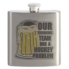 Hockey Drinking Team Flask