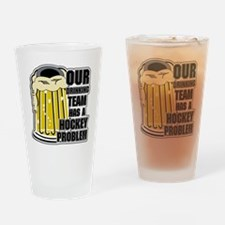 Hockey Drinking Team Drinking Glass