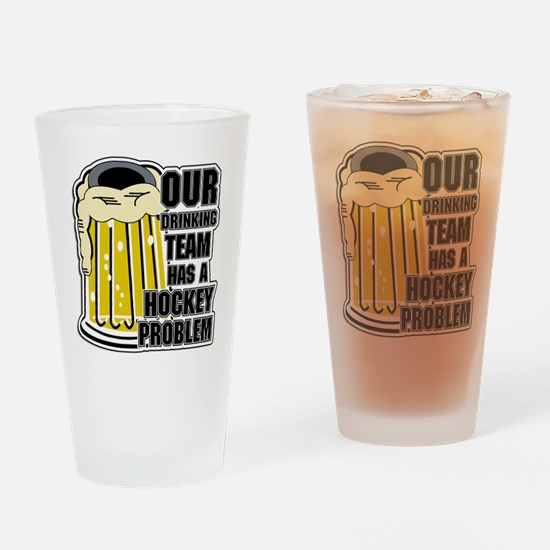 Hockey Drinking Team Drinking Glass