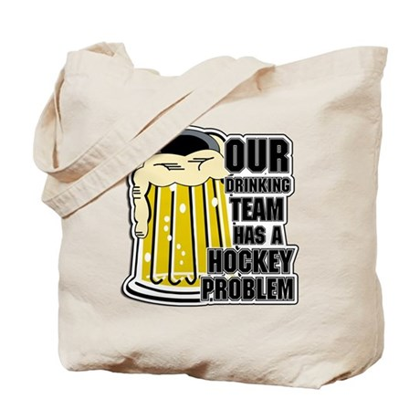Hockey Drinking Team Tote Bag