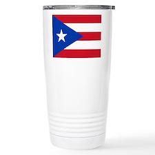 Flag of Puerto Rico Travel Mug