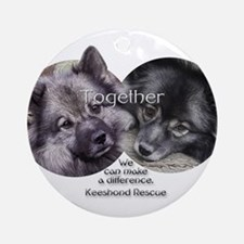 Together We Can Make a Difference Ornament (Round)