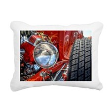 Red Hot Rod at a Carshow Rectangular Canvas Pillow