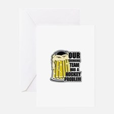 Hockey Drinking Team Greeting Card