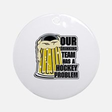 Hockey Drinking Team Ornament (Round)