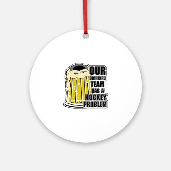 Hockey Drinking Team Ornament (Round)