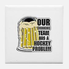 Hockey Drinking Team Tile Coaster