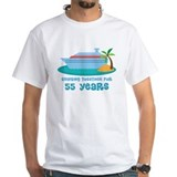 55th wedding anniversary Mens White T-shirts