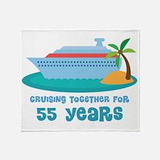 55th Anniversary Cruise Throw Blanket