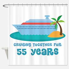 55th Anniversary Cruise Shower Curtain
