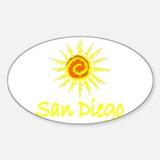 San Diego, California Oval Decal