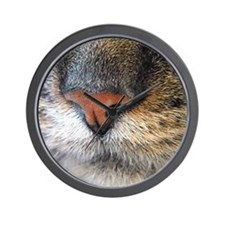 Closeup of a Cats Nose Wall Clock