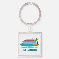 50th Anniversary Cruise Square Keychain
