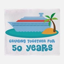50th Anniversary Cruise Throw Blanket