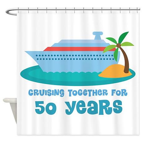50th Anniversary Cruise Shower Curtain