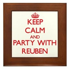 Keep Calm and Party with Reuben Framed Tile