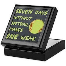 Chalkboard Seven Days Without Softball Keepsake Bo