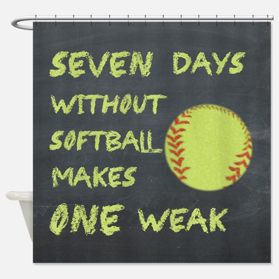 Chalkboard Seven Days Without Softball Shower Curt