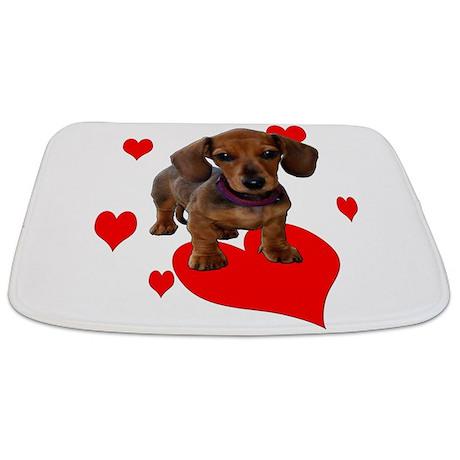 Love Heart Dachshunds (Dachsies) Bathmat