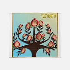 12 Tribes Israel Reuben Throw Blanket