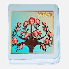 12 Tribes Israel Reuben baby blanket