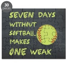 Chalkboard Seven Days Without Softball Puzzle