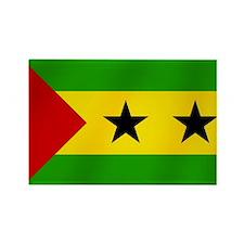 Flag of Sao Tome Rectangle Magnet