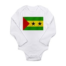 Flag of Sao Tome Long Sleeve Infant Bodysuit