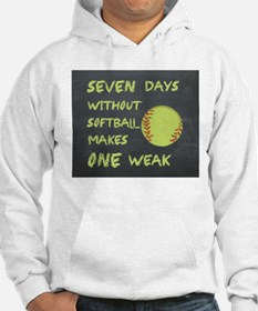 Chalkboard Seven Days Without Softball Hoodie