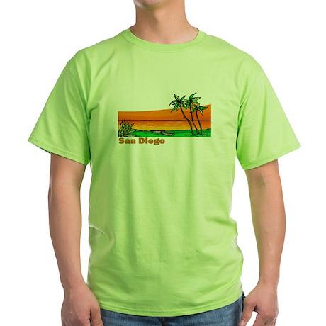 San Diego, California Green T-Shirt