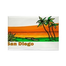 San Diego, California Rectangle Magnet (100 pack)