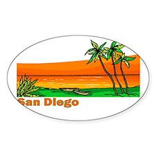 San Diego, California Oval Decal