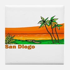 San Diego, California Tile Coaster