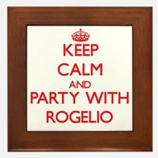 Keep Calm and Party with Rogelio Framed Tile
