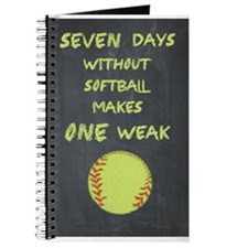 Chalkboard Seven Days Without Softball Journal