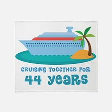 44th Anniversary Cruise Throw Blanket