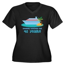 42nd Anniversary Cruise Women's Plus Size V-Neck D