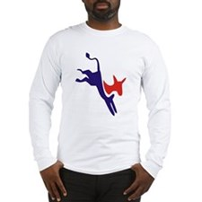 Democrat Donkey v1 Long Sleeve T-Shirt