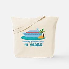 41st Anniversary Cruise Tote Bag