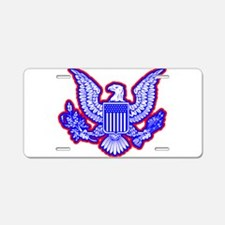 Red, White, and Blue Eagle Aluminum License Plate