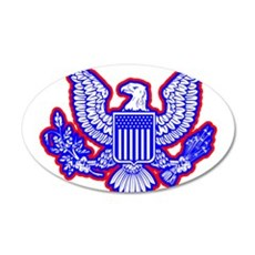 Red, White, and Blue Eagle Wall Decal