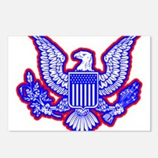 Red, White, and Blue Eagle Postcards (Package of 8