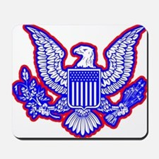 Red, White, and Blue Eagle Mousepad