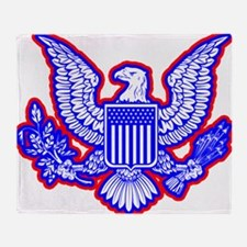 Red, White, and Blue Eagle Throw Blanket