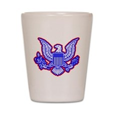 Red, White, and Blue Eagle Shot Glass