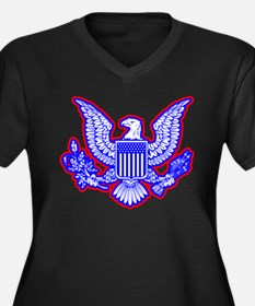 Red, White, and Blue Eagle Plus Size T-Shirt