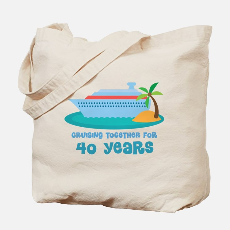 40th Anniversary Cruise Tote Bag