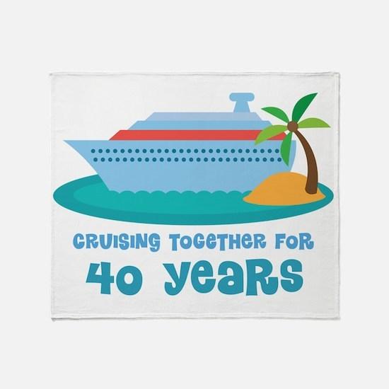 40th Anniversary Cruise Throw Blanket