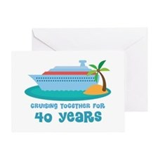 40th Anniversary Cruise Greeting Card